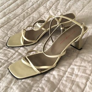 Vintage Y2K Strappy Square Toe Sandals